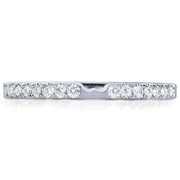 Kobelli Round-cut Diamond Wedding Band 1/6 Carat (ctw) in 14k White Gold