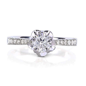 Round-cut Diamond Engagement Ring 1/2 Carat (ctw) in 14k White Gold