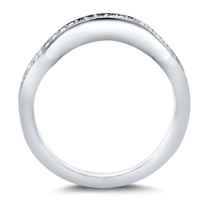 Kobelli Round-Cut Diamond Curved Wedding Band 1/5 carat (ctw) in 14k White Gold