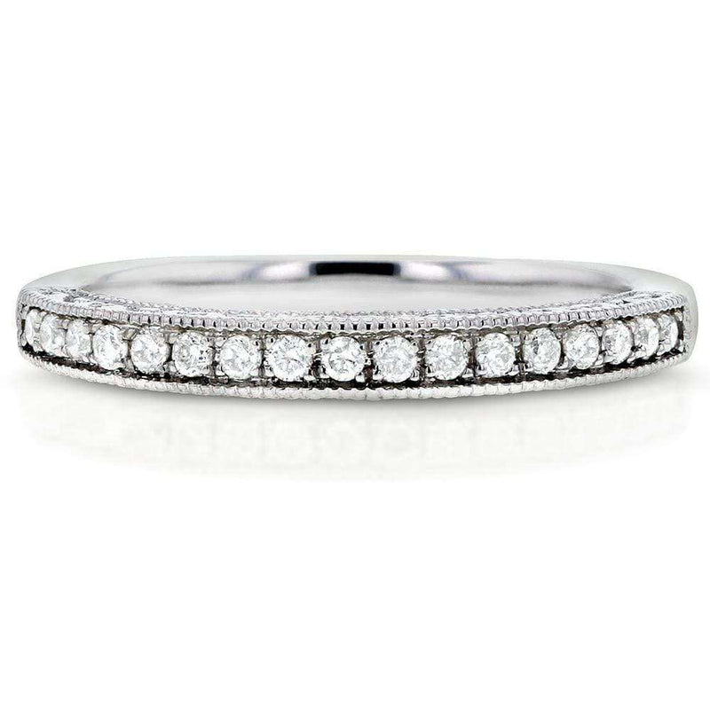 Kobelli Diamond Wedding Band 1/8 carat (ctw) in 14k White Gold