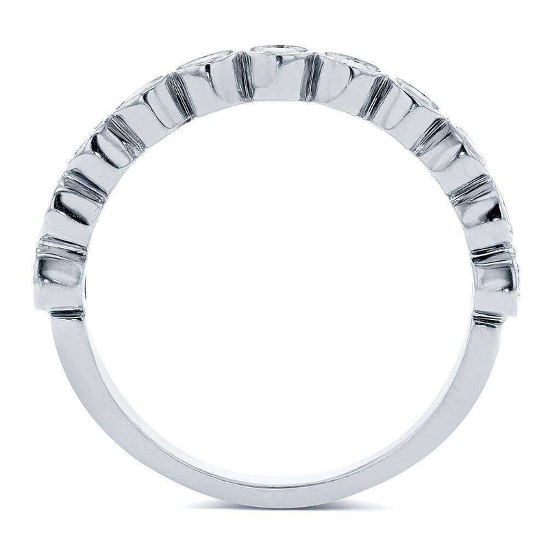 Kobelli Round-Cut Diamond Wedding Band 1/2 carat (ctw) in 14k White Gold