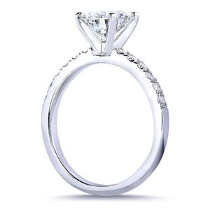 Round Diamond Engagement Ring 1 4/5 Carat (ctw) in 14k White Gold (Certified)