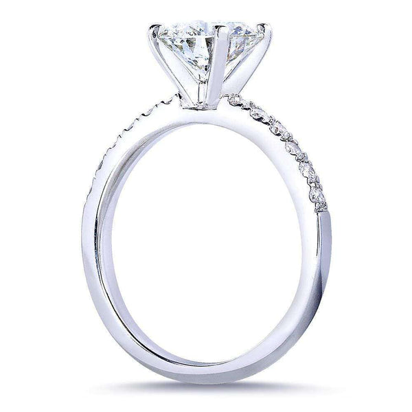 Kobelli Round Diamond Engagement Ring 1 4/5 Carat (ctw) in 14k White Gold (Certified)