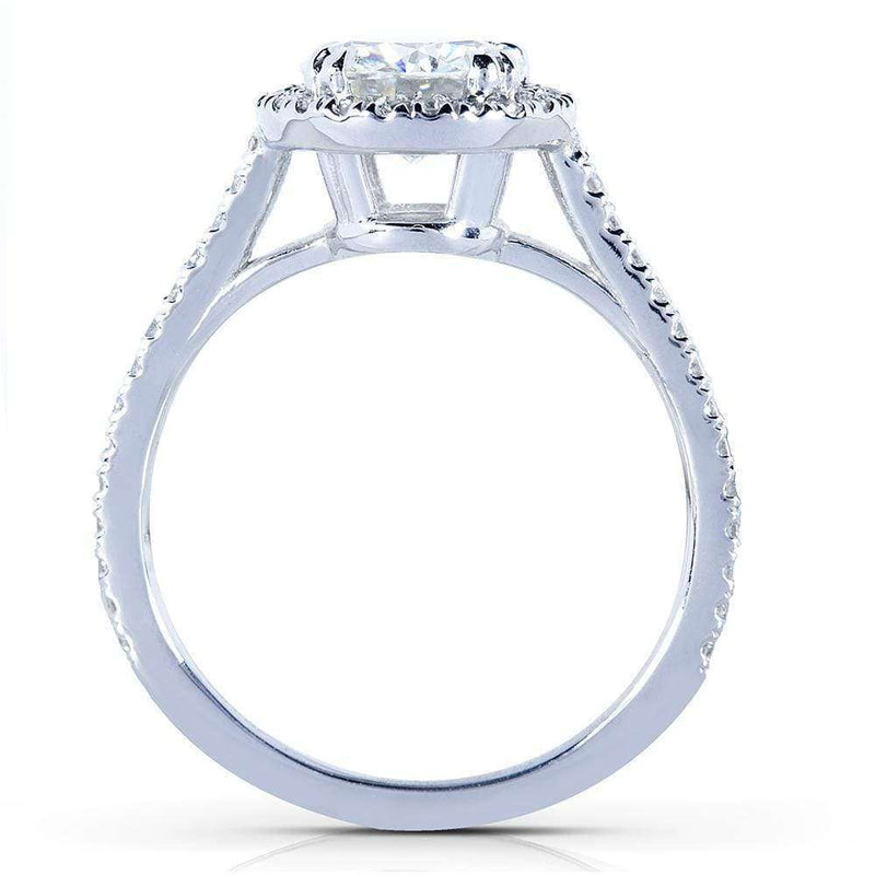 Kobelli Round-cut Moissanite Bridal Set with Diamond 1 5/8 CTW 14k White Gold