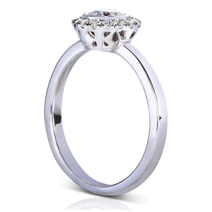 Round-cut Diamond 3-piece Bridal Ring Set 7/8 Carat (ctw) in 14k White Gold