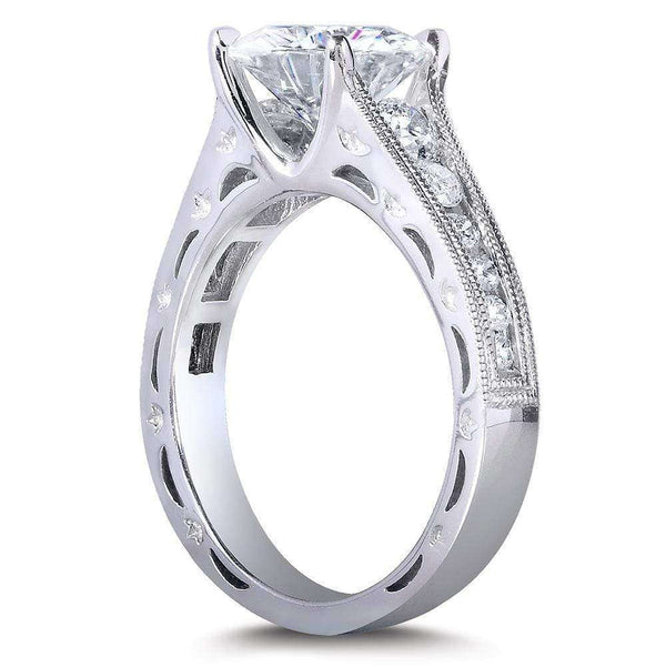 Kobelli Moissanite & Channel Diamond Bridal Ring Set 2 4/5 CTW 14k White Gold
