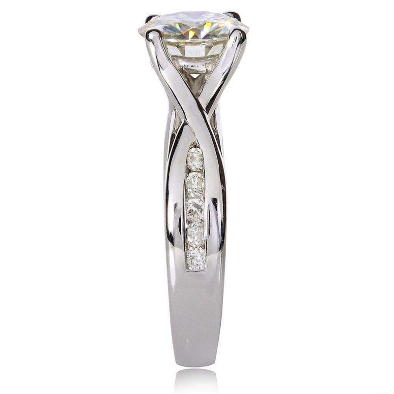 Kobelli Round-cut Diamond Engagement Ring 1 1/5 CTW in 14k White Gold