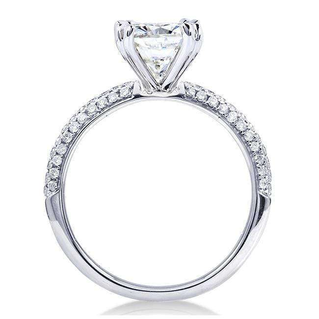 Kobelli Cushion-cut Moissanite Engagement Ring with Micro-Pave Diamond 2 1/4 CTW 14k White Gold