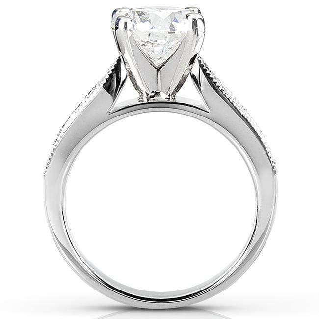 Kobelli Forever One (D-F) Moissanite & Diamond Bridal Set 1 4/5 Carat (ctw) in 14k White Gold