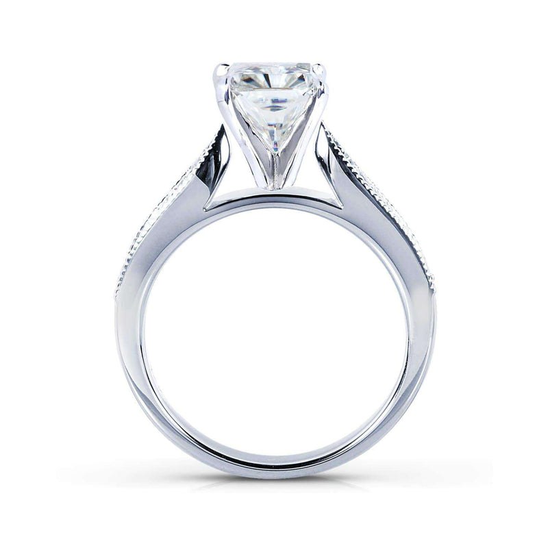 Kobelli Near-Colorless (F-G) Moissanite Bridal Set with Diamond 1 1/2 CTW 14k White Gold