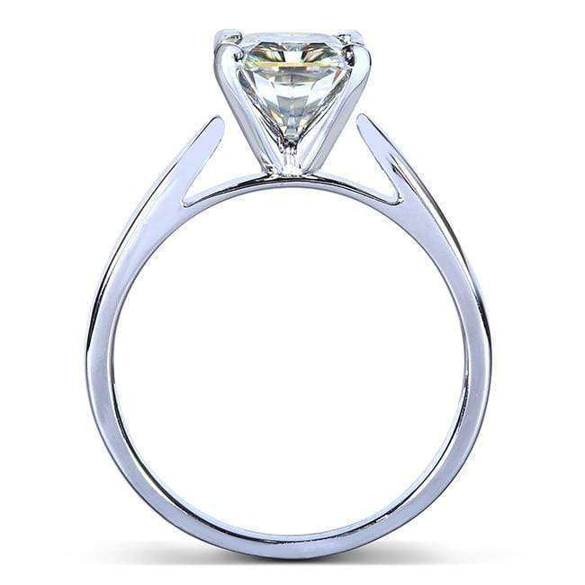 Kobelli Round Moissanite Solitaire Engagement Ring 1 1/2 CTW 14k White Gold
