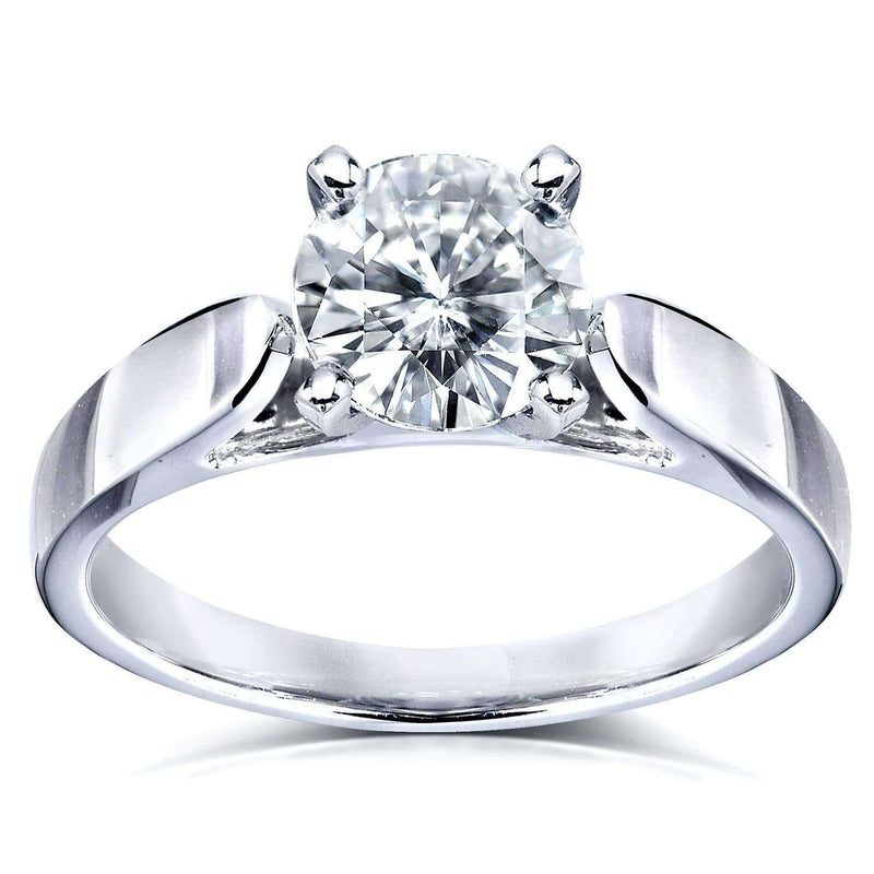 Kobelli Round Moissanite Solitaire Engagement Ring 1 CTW 14k White Gold