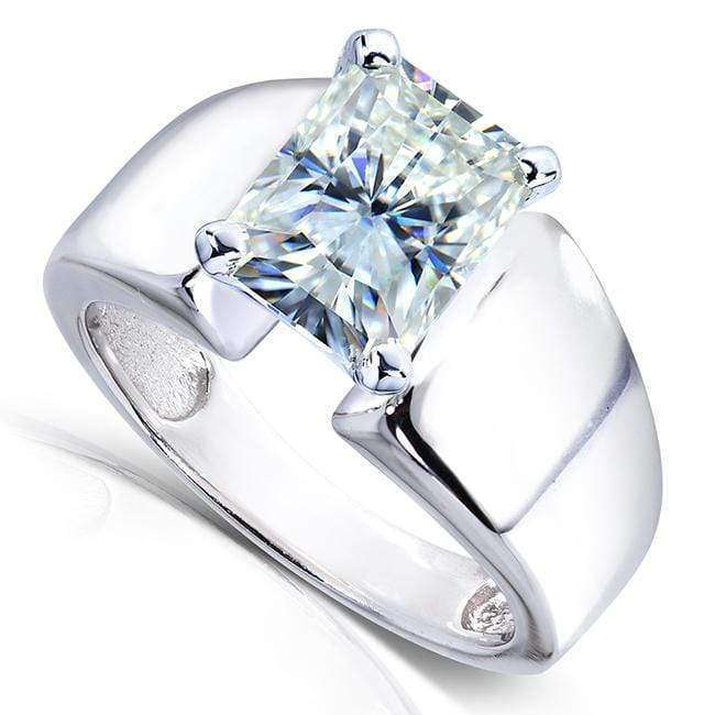 Kobelli Radiant-Cut Moissanite Solitaire Engagement Ring 2 3/4 CTW 14k White Gold
