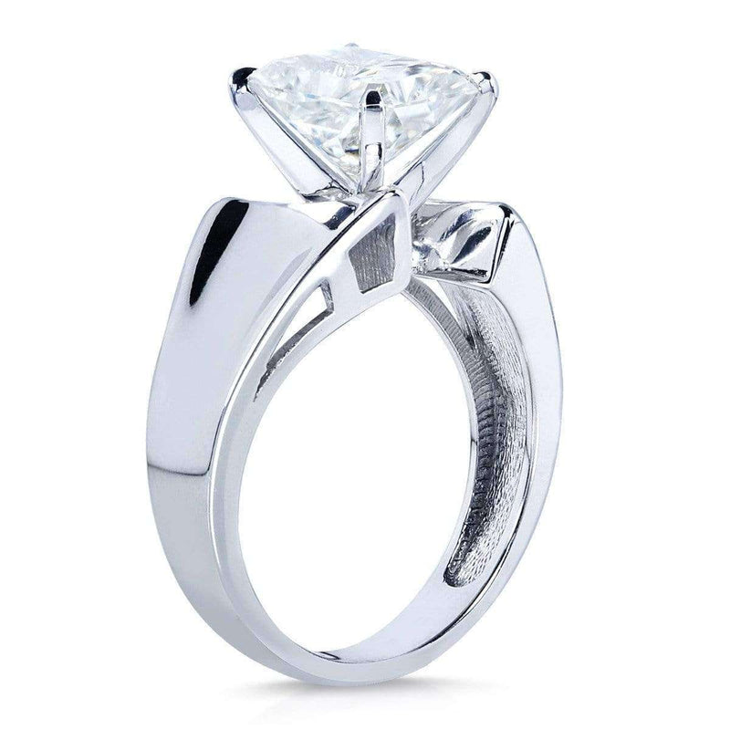 Kobelli Radiant-Cut Moissanite Solitaire Engagement Ring 1 4/5 CTW 14k White Gold