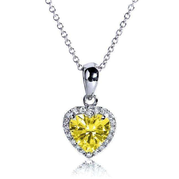 Kobelli Yellow Moissanite and Diamond Pendant 1 1/10 CTW 14k Gold