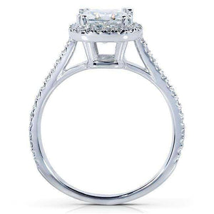 Kobelli Cushion-cut Moissanite Engagement Ring with Diamond 1 1/3 CTW 14k White Gold
