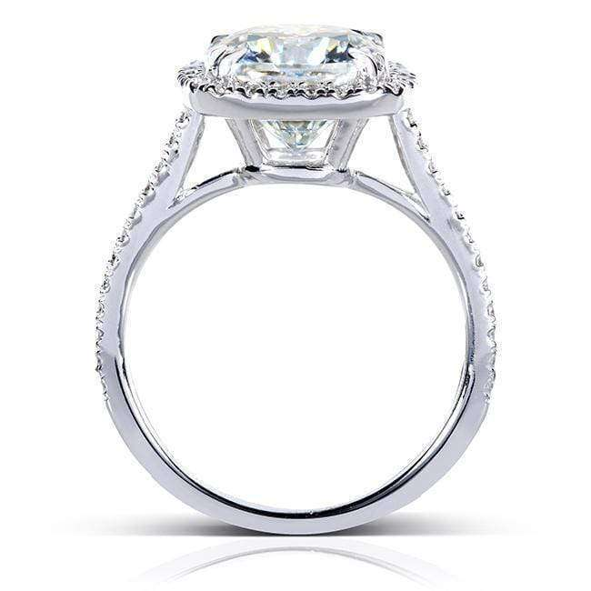 Kobelli Cushion Forever One 8.5mm Moissanite Halo Ring 14k White Gold (3 CTW)