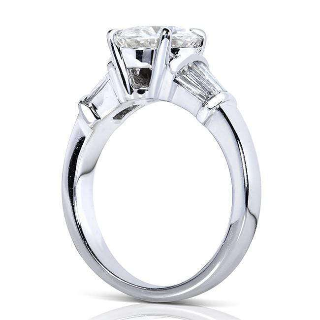 Kobelli Forever One (D-F) Moissanite Engagement Ring with Diamond 2 CTW 14k White Gold