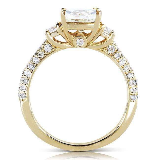 Kobelli Round-cut Moissanite Engagement Ring with Diamond 1 1/2 CTW 14k Gold MZ61838R-E_4.5_YG