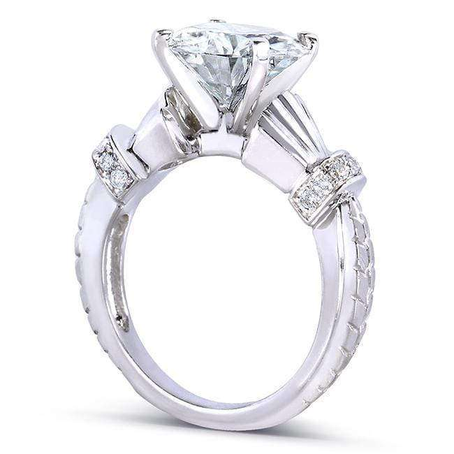Kobelli Round-cut Moissanite Engagement Ring with Diamond 3 1/4 Carat 14k Gold