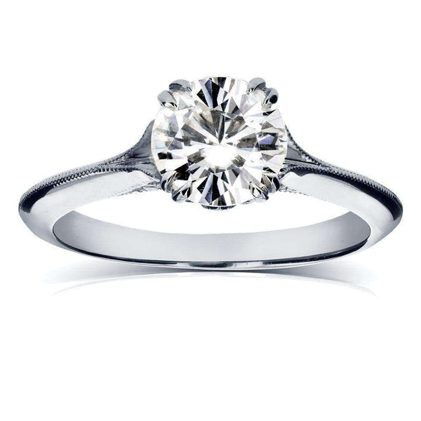 Kobelli Vintage Diamond Engagement Ring 1 1/10 CTW in 14k White Gold