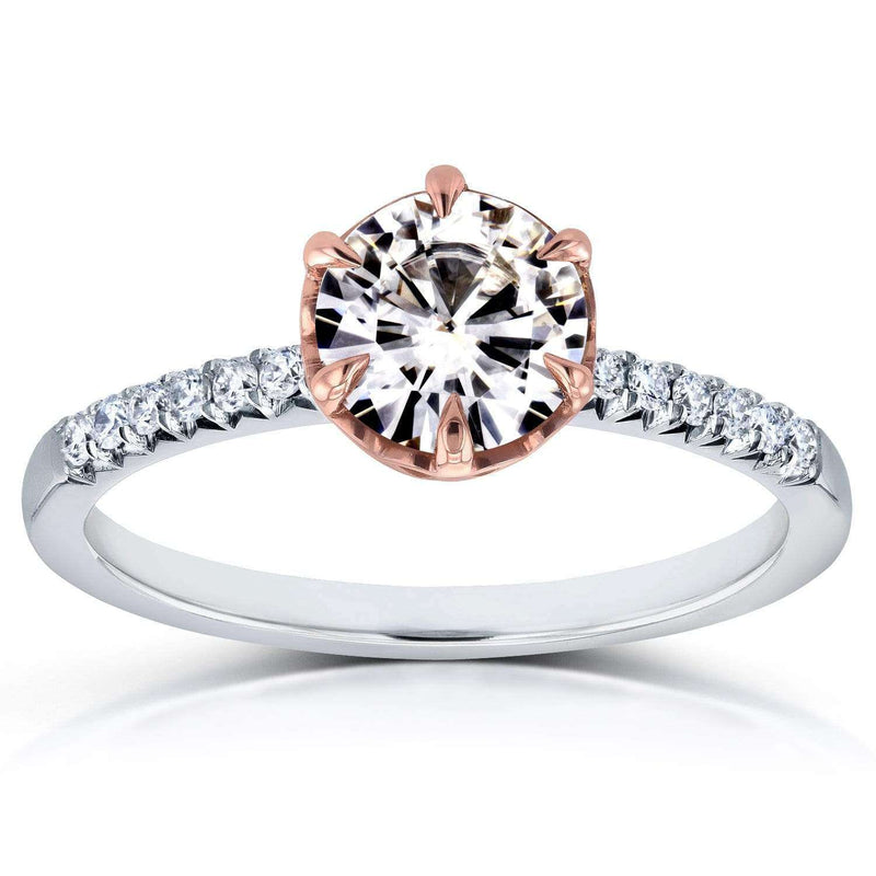 Kobelli Round Diamond Engagement Ring 1 1/8 CTW in Two-Tone 14k Gold