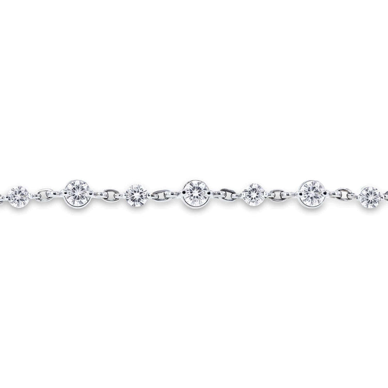 Kobelli Moissanite Chain Link Bracelet 3 1/2 CTW in 10k White Gold MZ62321
