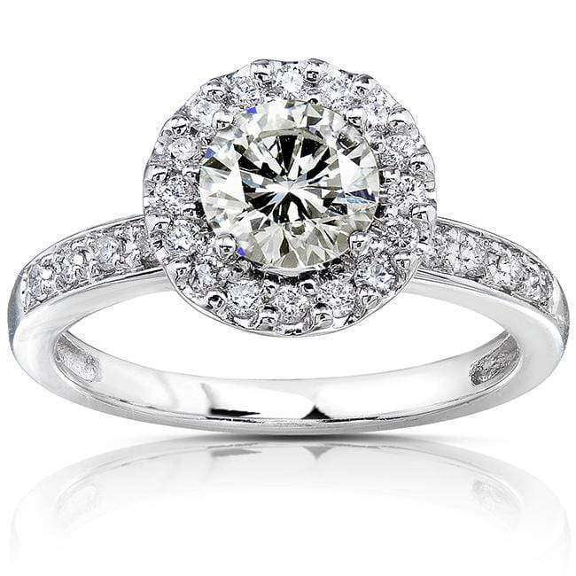 Kobelli Round Moissanite Floating Halo Engagement Ring (1-1/4 CTW)