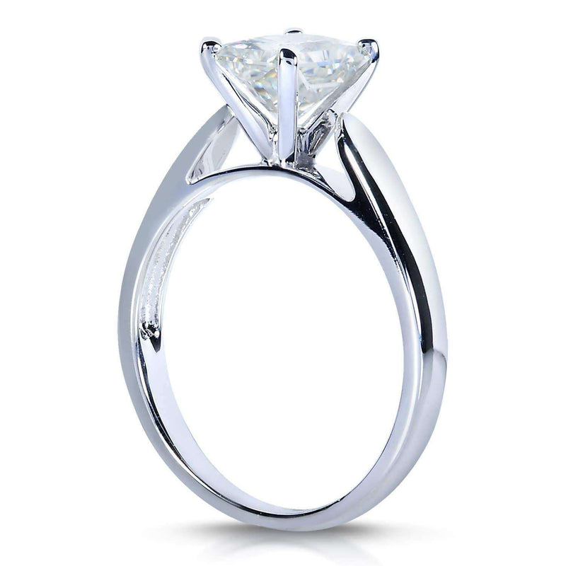 Kobelli Near-Colorless (F-G) Emerald-cut Moissanite Solitaire 1 Carat in 14k White Gold