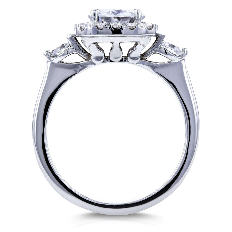 Kobelli Forever One Moissanite Multi Stone Pinched Shank Ring (1-2/5ct TGW)