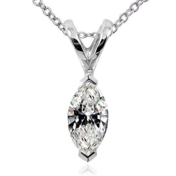 Kobelli Diamond Solitaire Marquise 1/4 Carat in 14K White Gold 61477-25