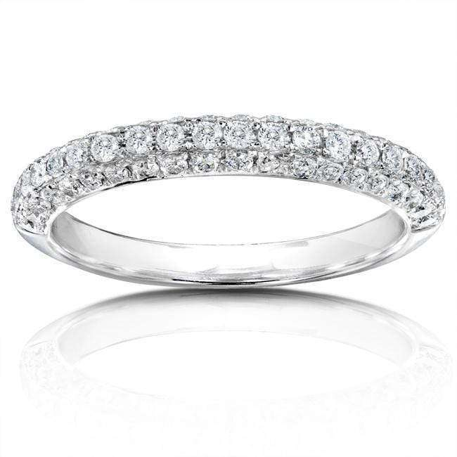 Discounts Diamond Band 1/2 carat (ctw) in 14K White Gold - 9.5