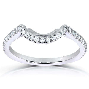 1/5ct.tw Curved Diamond Band 14k White Gold (61761 Series)