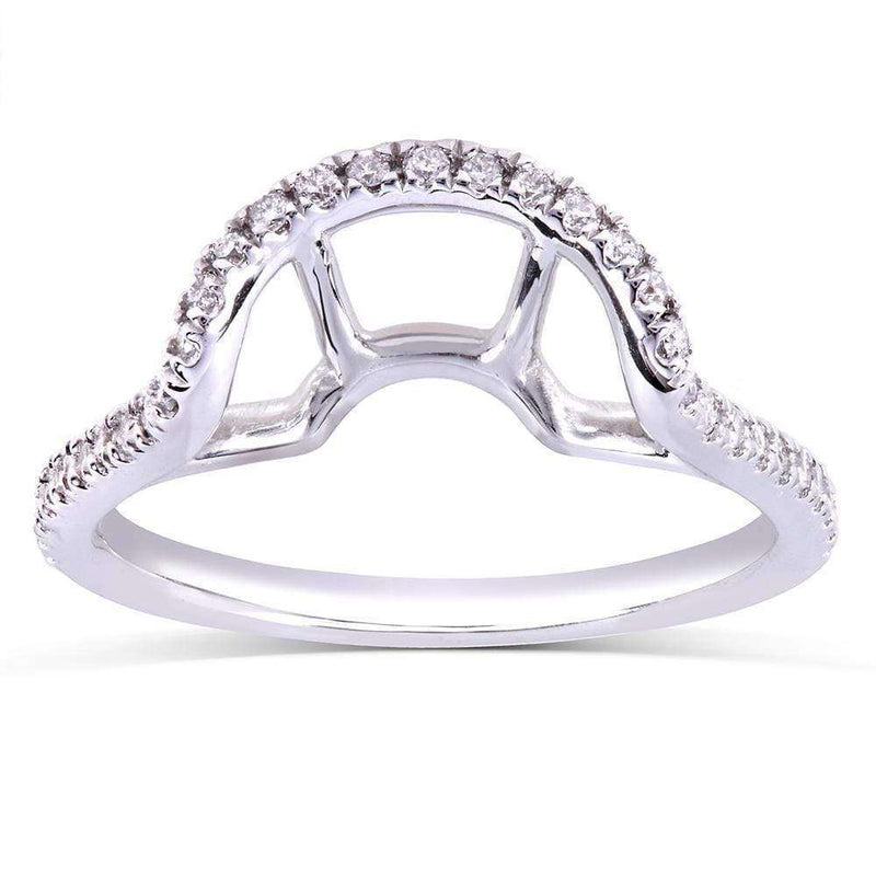 Kobelli Round-cut Diamond Wedding Band 1/5 Carat (ctw) in 14k White Gold