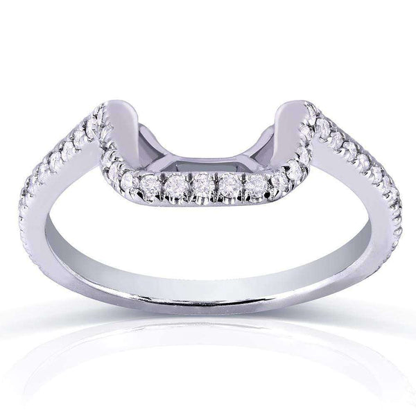 Kobelli Round Diamond Shadow Band 1/5 Carat (ctw) in 14k White Gold