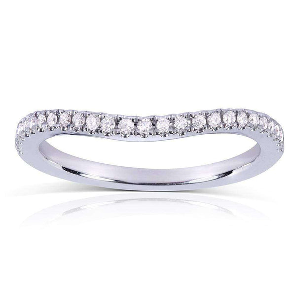 Natural Diamond Curved Wedding Band 1/5 CTW