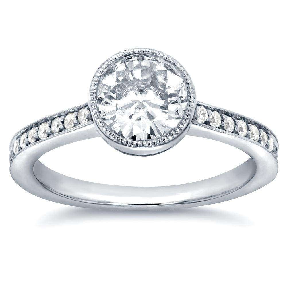 Reviews Art Deco Moissanite and Diamond Bezel Engagement Ring 1 1/4 CTW 14k White Gold - 5