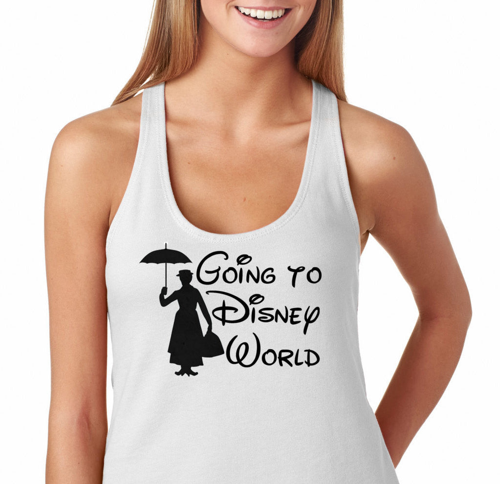 ca8f204fc Going to Disney Shirt,Mary Poppins, Ladies'The Terry Racerback Tank , funny