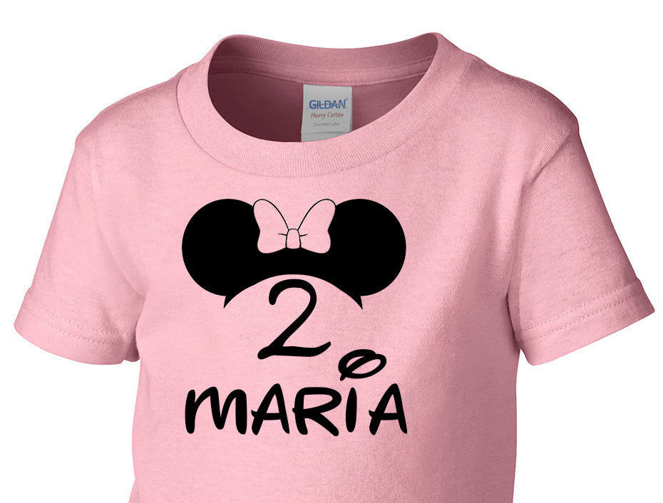 Minnie Mouse Birthday Girl Shirt Toddler T Newborn Baby Boy Outfit