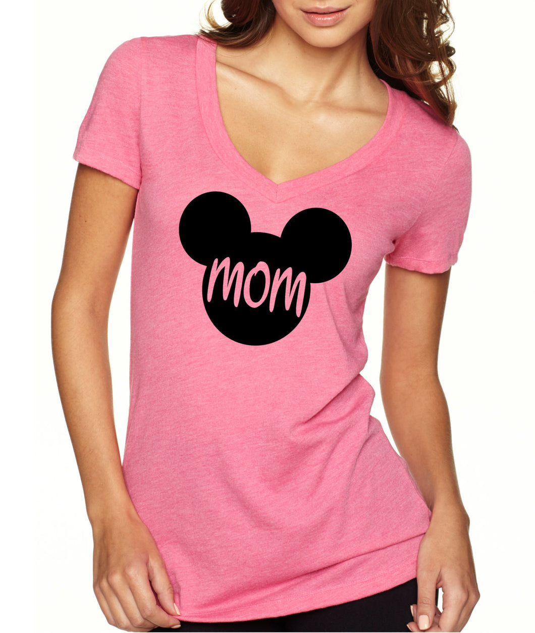 Mickey Mouse MOM V Neck Birthday Shirt Mom Vintage Age