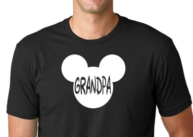 Mickey Mouse Grandpa Tee Shirt Funny ShirtDad Birthday