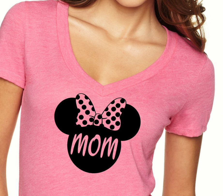 Minnie Mouse V Neck Birthday Shirt Mom Vintage Age