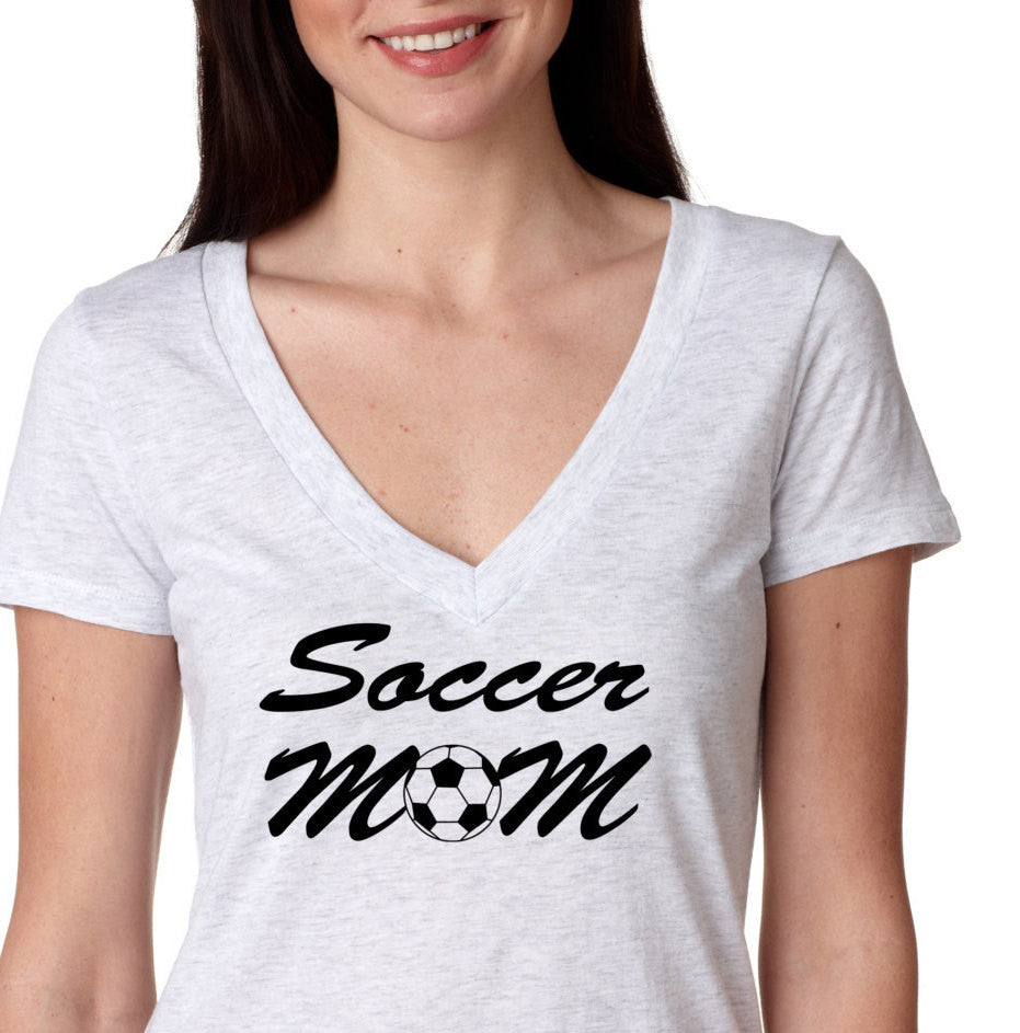 Soccer Mom V Neck Birthday Shirt Vintage Age