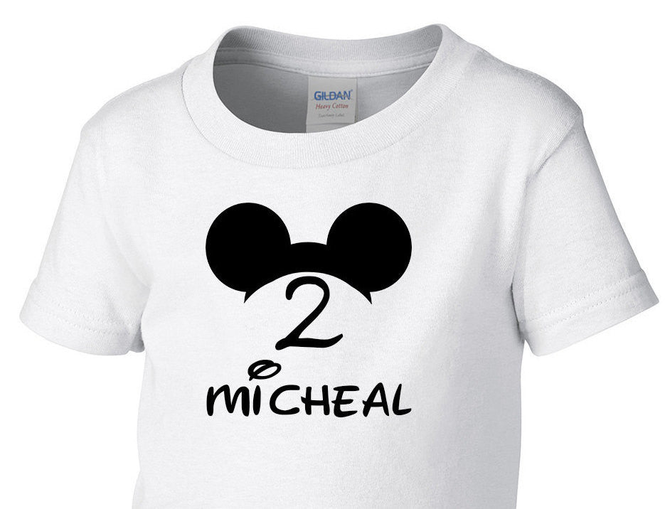 Mickey Birthday Boy Or Girl Shirt Toddler T Newborn Baby Outfit