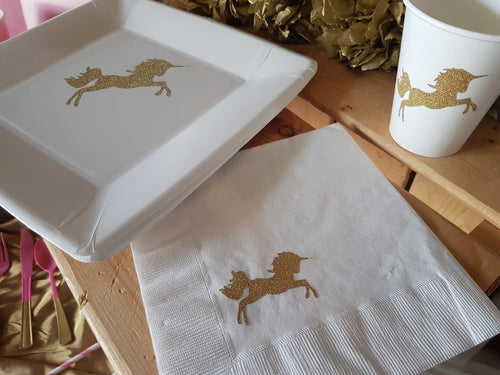 Unicorn Magic Party Tableware. Party Plates, Cups, Napkins,  Unicorn Party Supplies