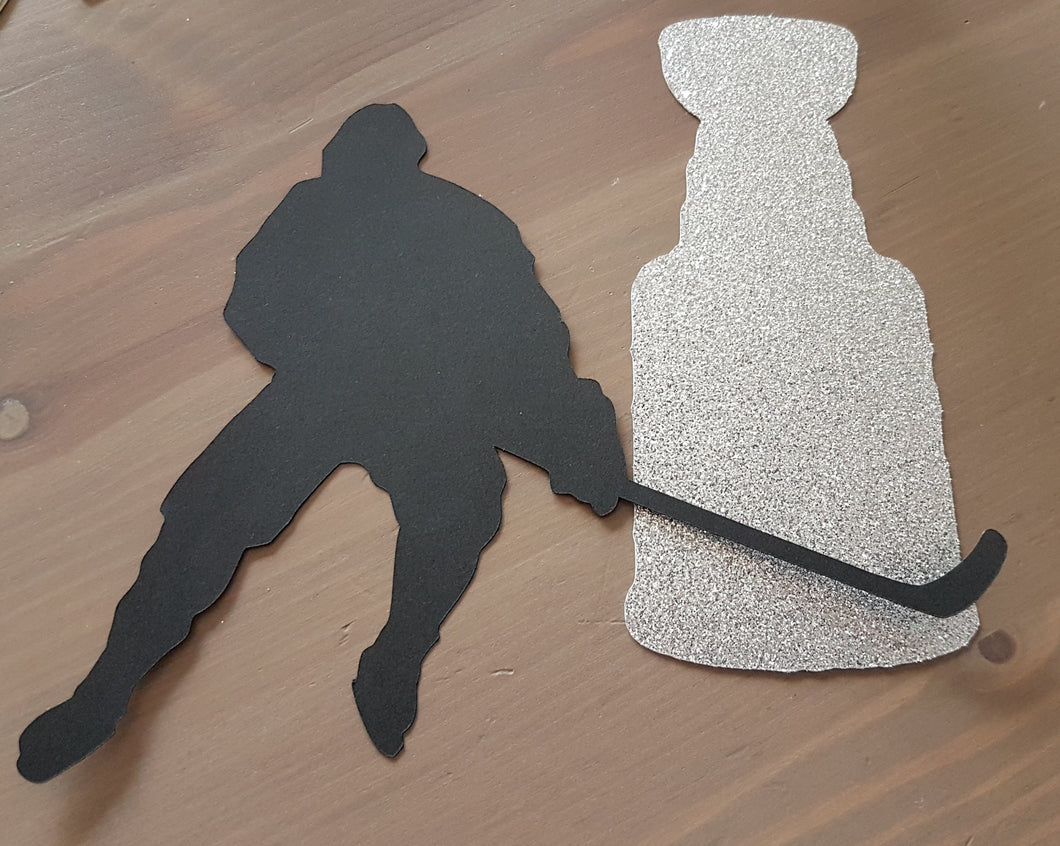 Hockey With Stanley Cup Cake Topper Hockey Party Decor Hockey