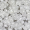 White Pearl 25mm Teddy Bear Pony Beads (24pcs)