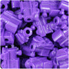 Dark Lilac Opaque 22mm Train Pony Beads (24pcs)