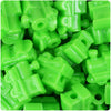 Lime Opaque 22mm Train Pony Beads (24pcs)
