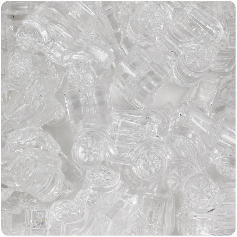 Crystal Transparent 25mm Car Pony Beads (24pcs)